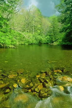 Photograph of the Nantahala River by Kevin Adams